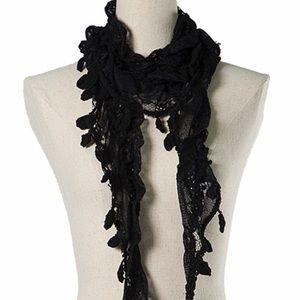 RYU Crochet & Lace Boho Style Scarf
